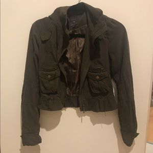 Forever 21 Cropped Army/Utility jacket